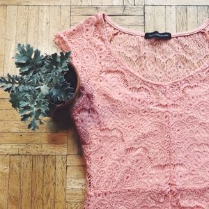 Dresses & Skirts - BLUSH PEACH LACE DRESS 🍑